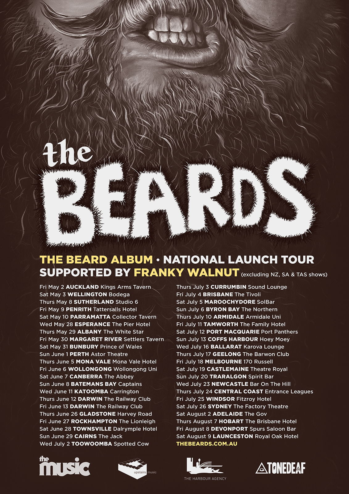 2014 TOUR LAUNCH POSTER_THE BEARD ALBUM_web image_all dates