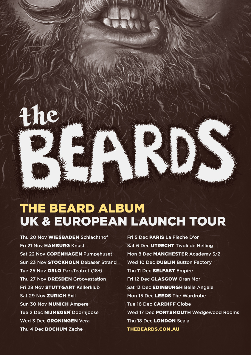 2014 TOUR LAUNCH POSTER_THE BEARD ALBUM_web_all europe dates_v3